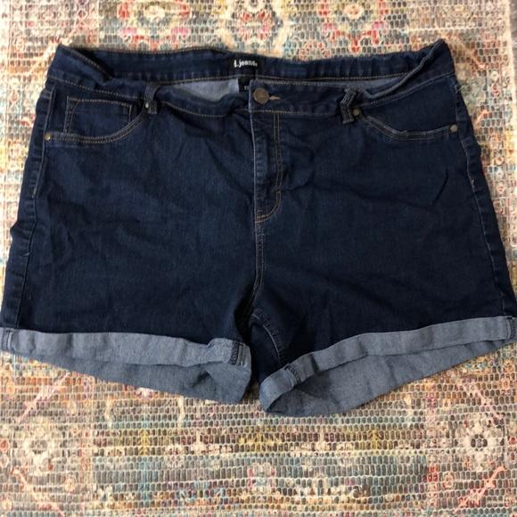 7c0b8ae27a4 d. jeans Pants - Plus size denim shorts